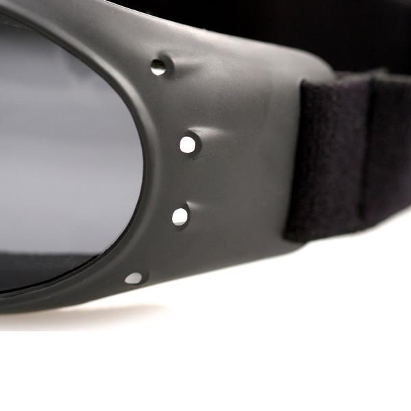 Cruiser smoke lens goggles
