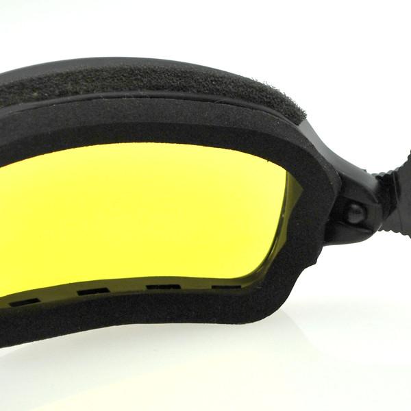 Fuel yellow photochromic goggles