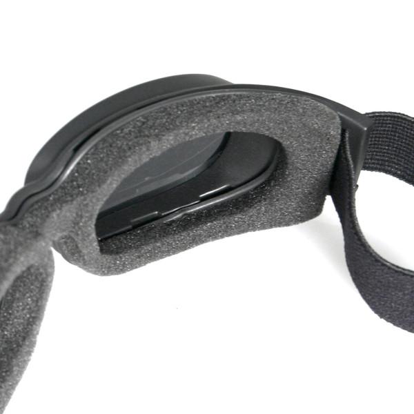 Piston smoke mirror lens goggles