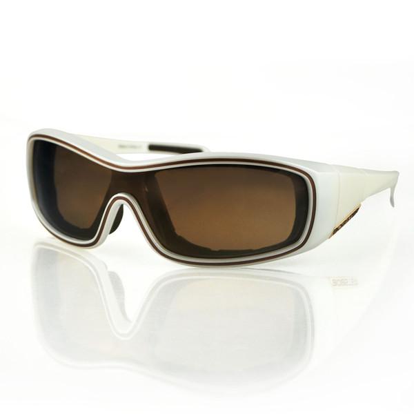 White Zoe brown lens convertibles